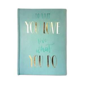 Libreta Do what you love - Menta